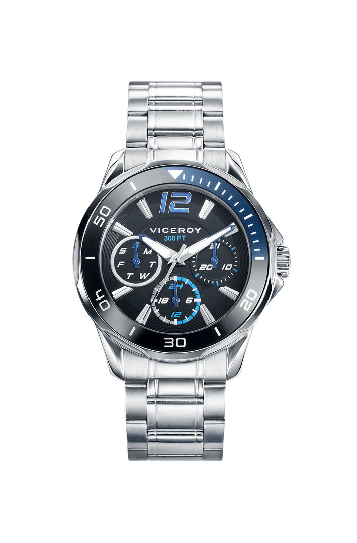 Multifunction blue Watch Next