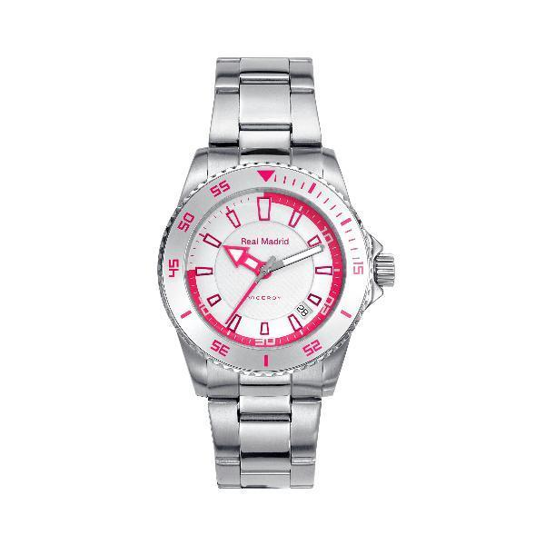 Reloj Real Madrid Rosa Pin Plata De Regalo