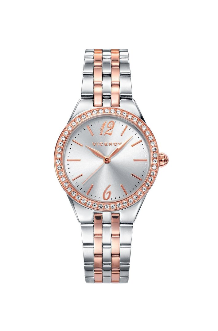 Pink IP Two Color Watch