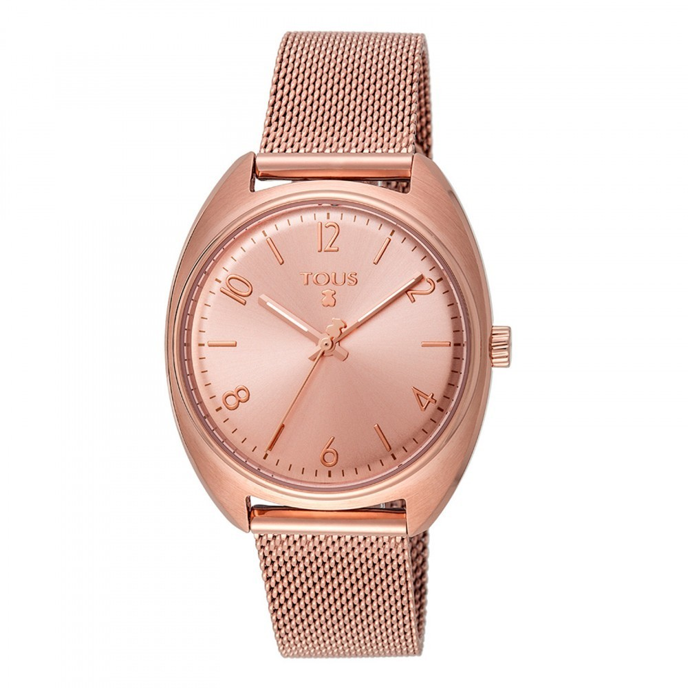 Pink IP Steel Retro Watch