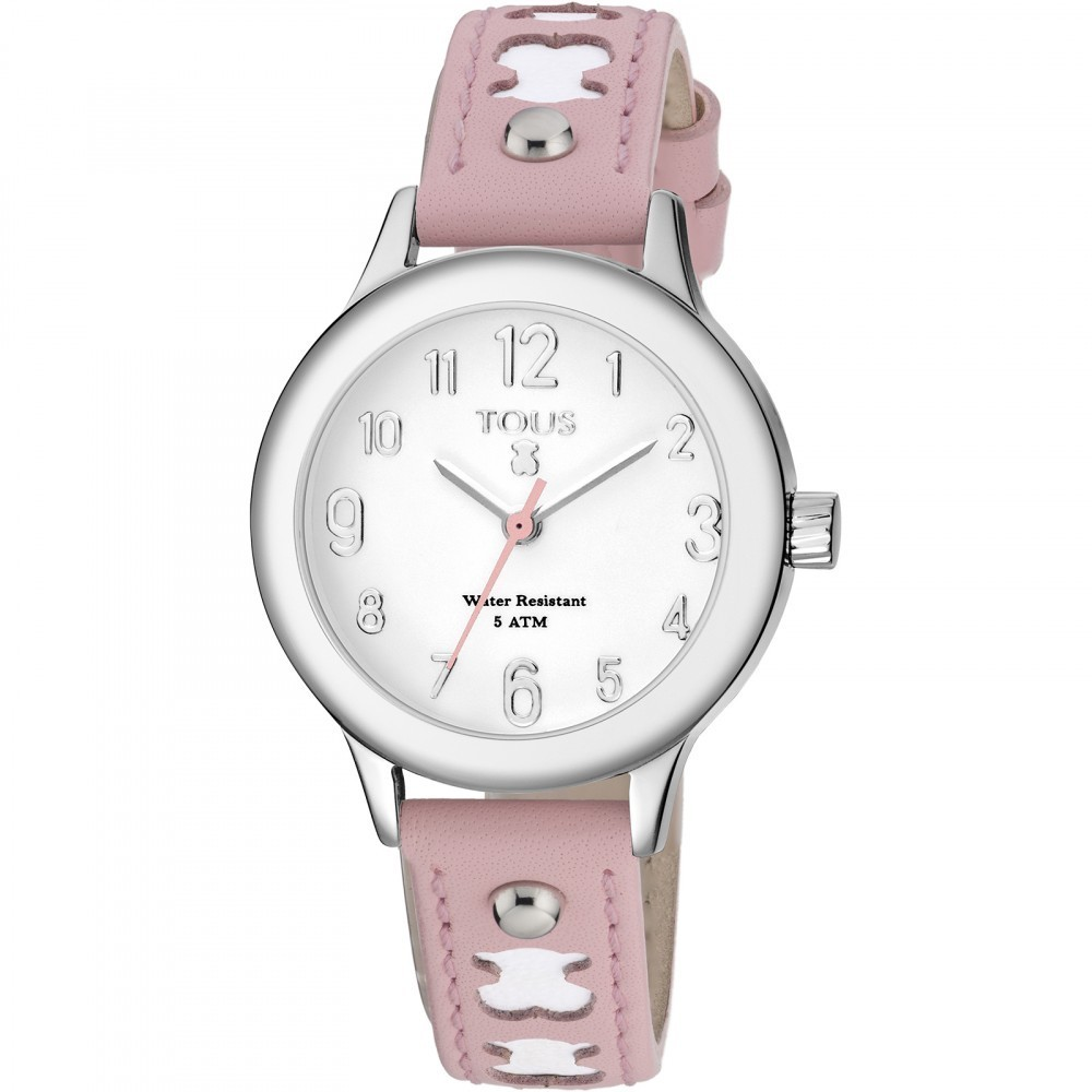 Dolce Watch With Pink Leather Strap