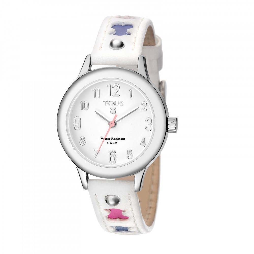 Dolce Watch With White Leather Strap