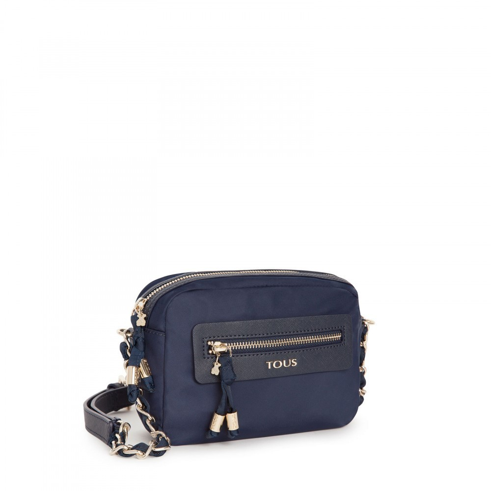 Brunock Chain Canvas Bag in marine color