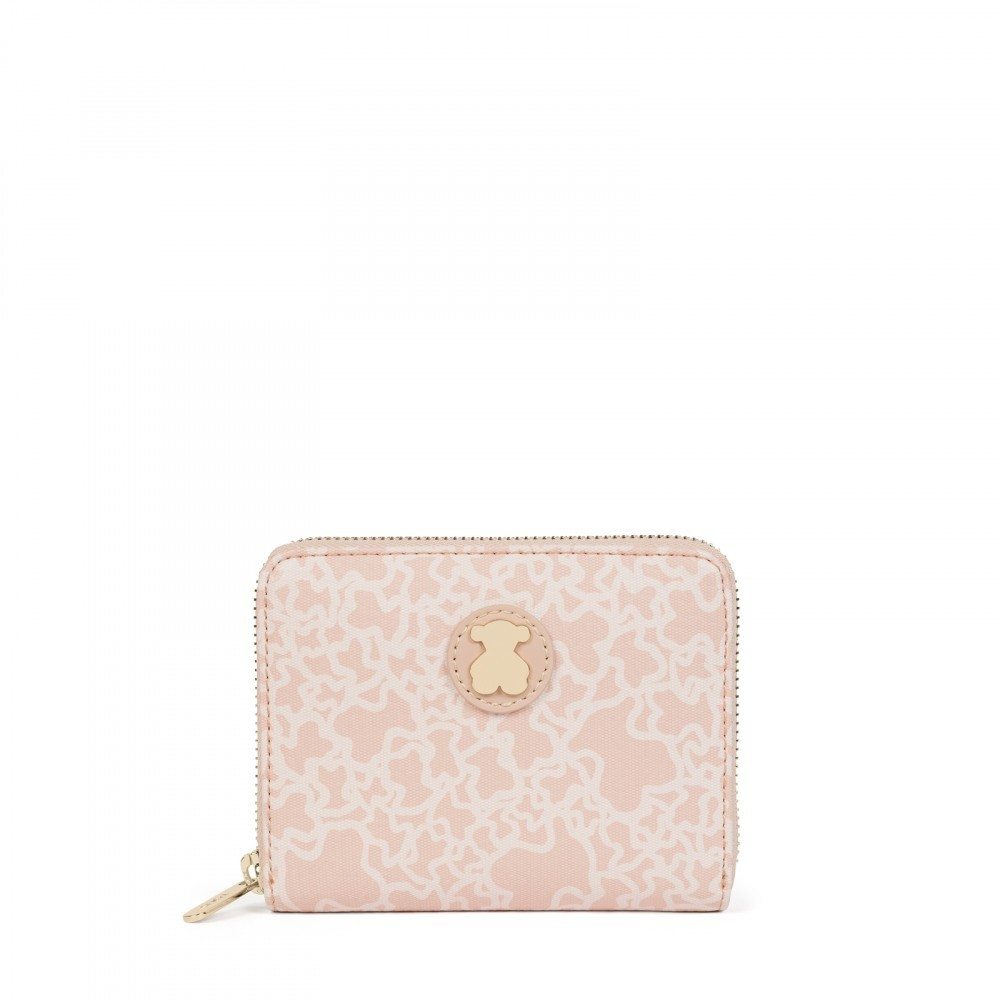 Small Kaos Mini Canvas Wallet Pink