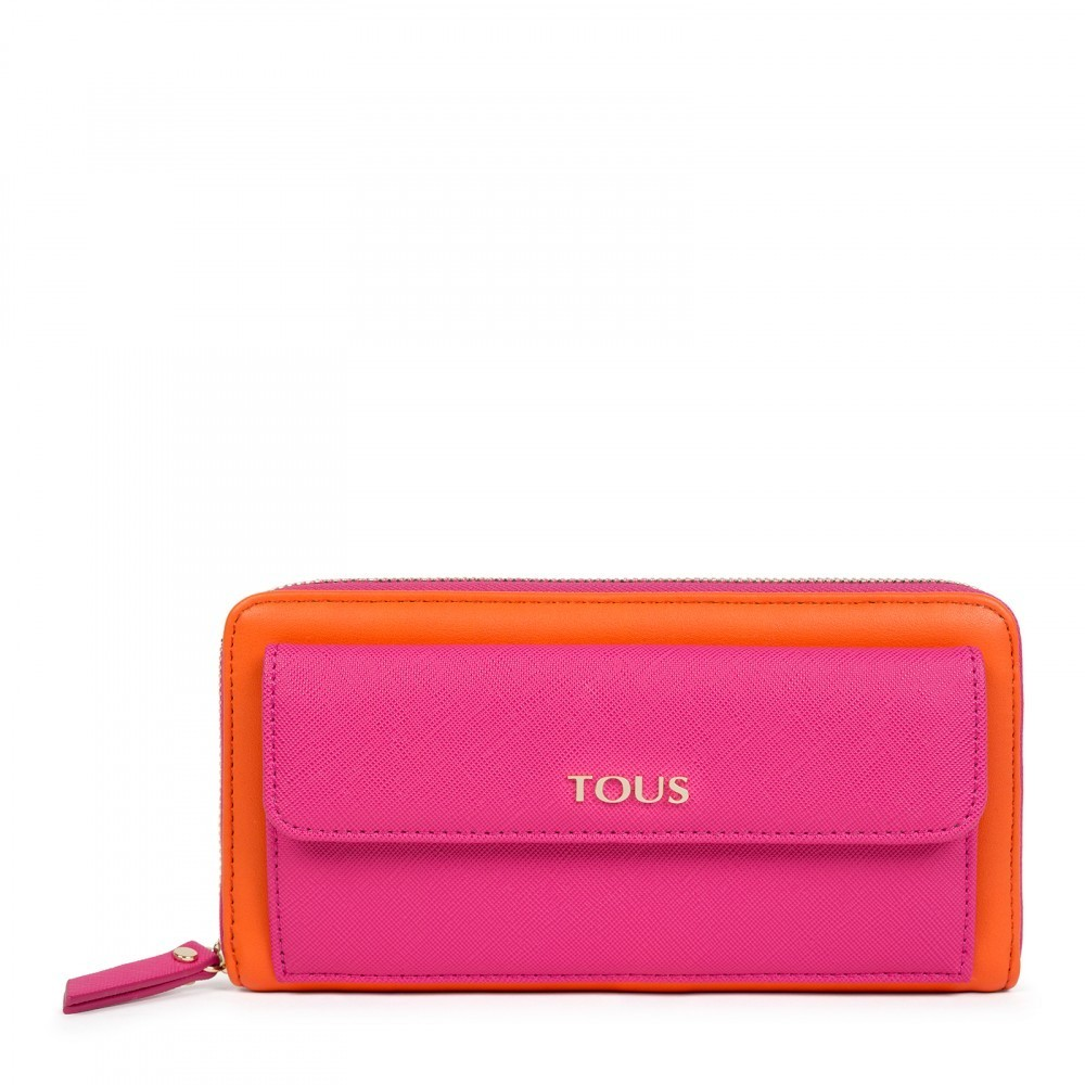 Medium Essence Wallet in Orange - Pink