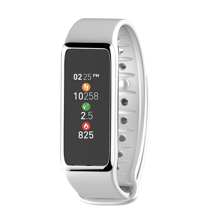 ZeFit 3 White Silver Activity Tracking
