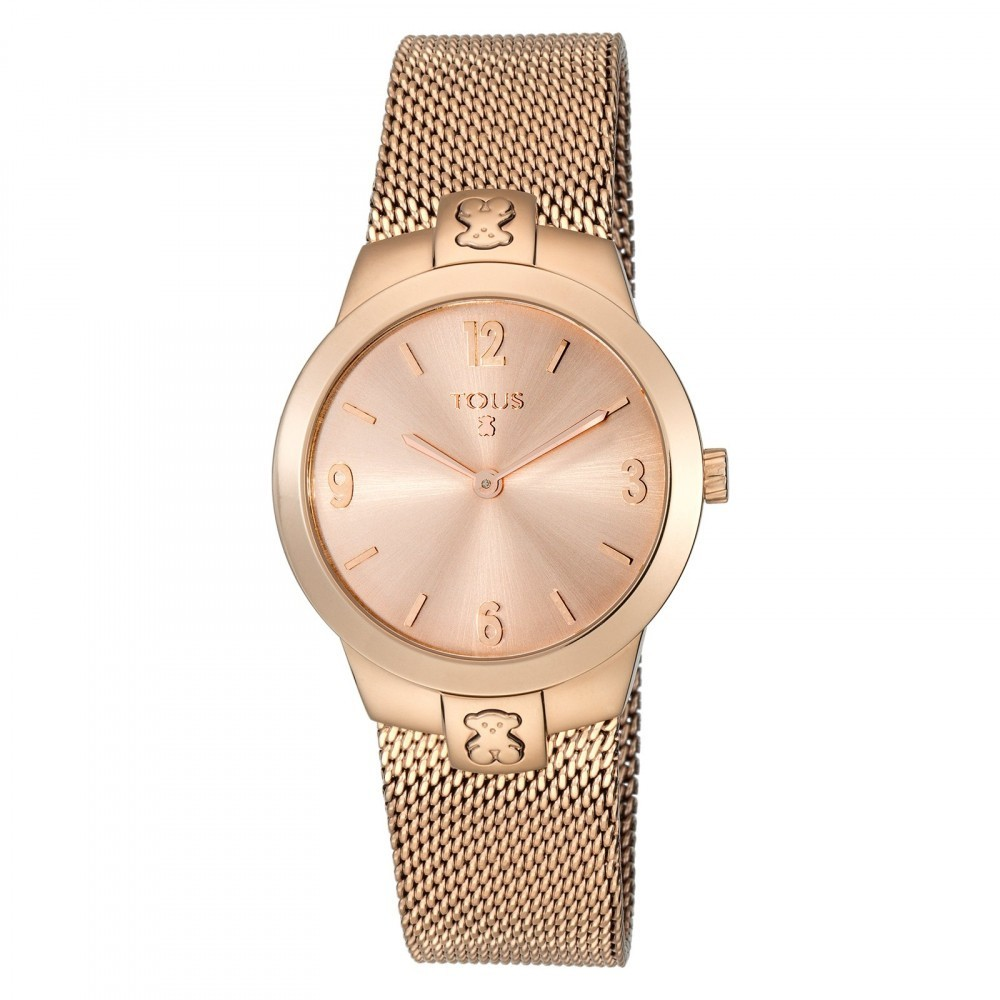Reloj Tmesh small de acero IP rosado