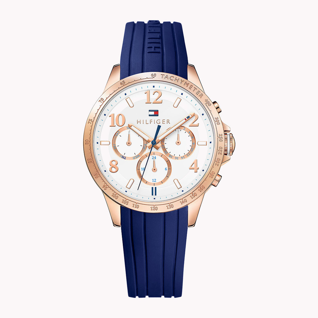 Tommy Hilfiger Dani women's blue silicone watch