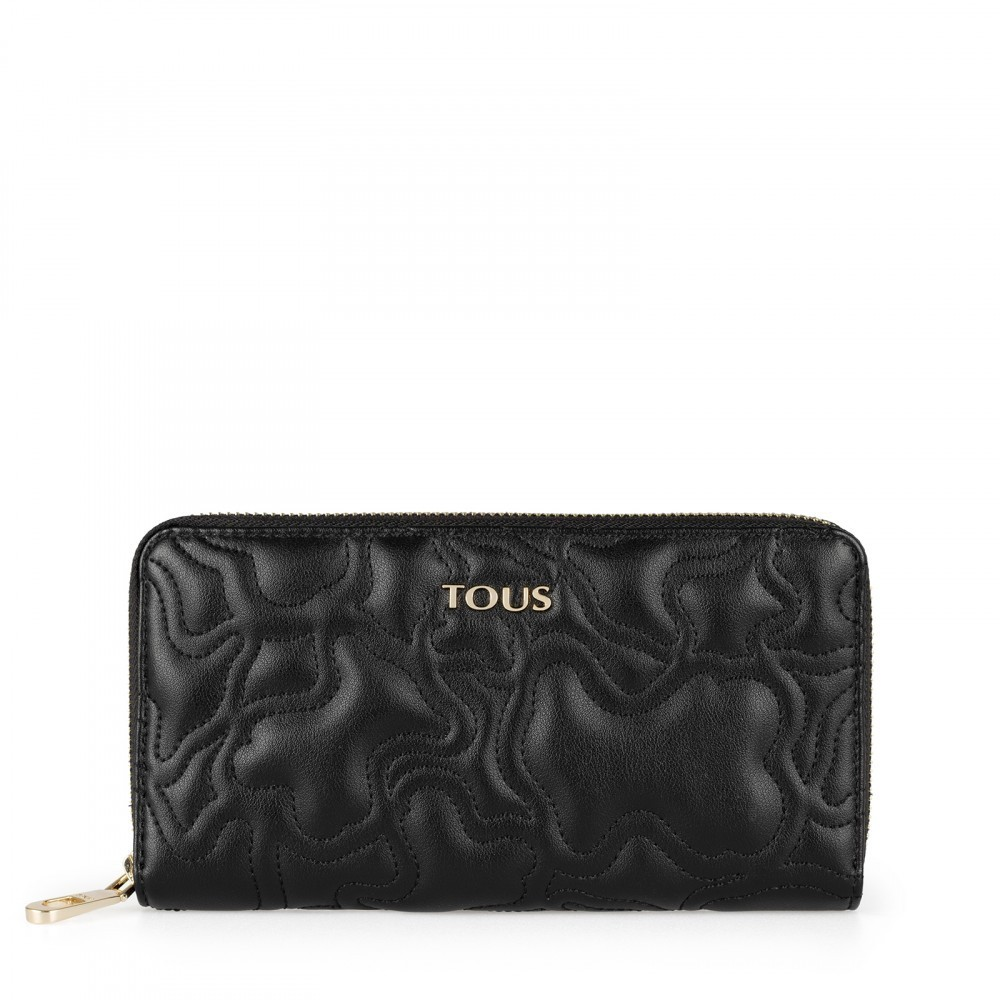 Kaos Capitone medium wallet in black