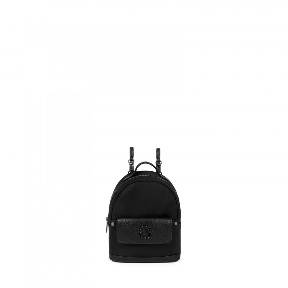 Mini Canvas Laina Backpack in black