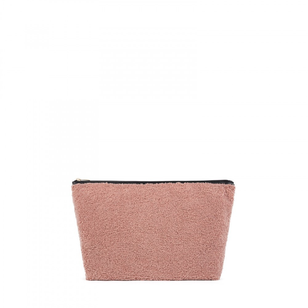 Kaos Shock Small Shaggy Hair Bag in Pink