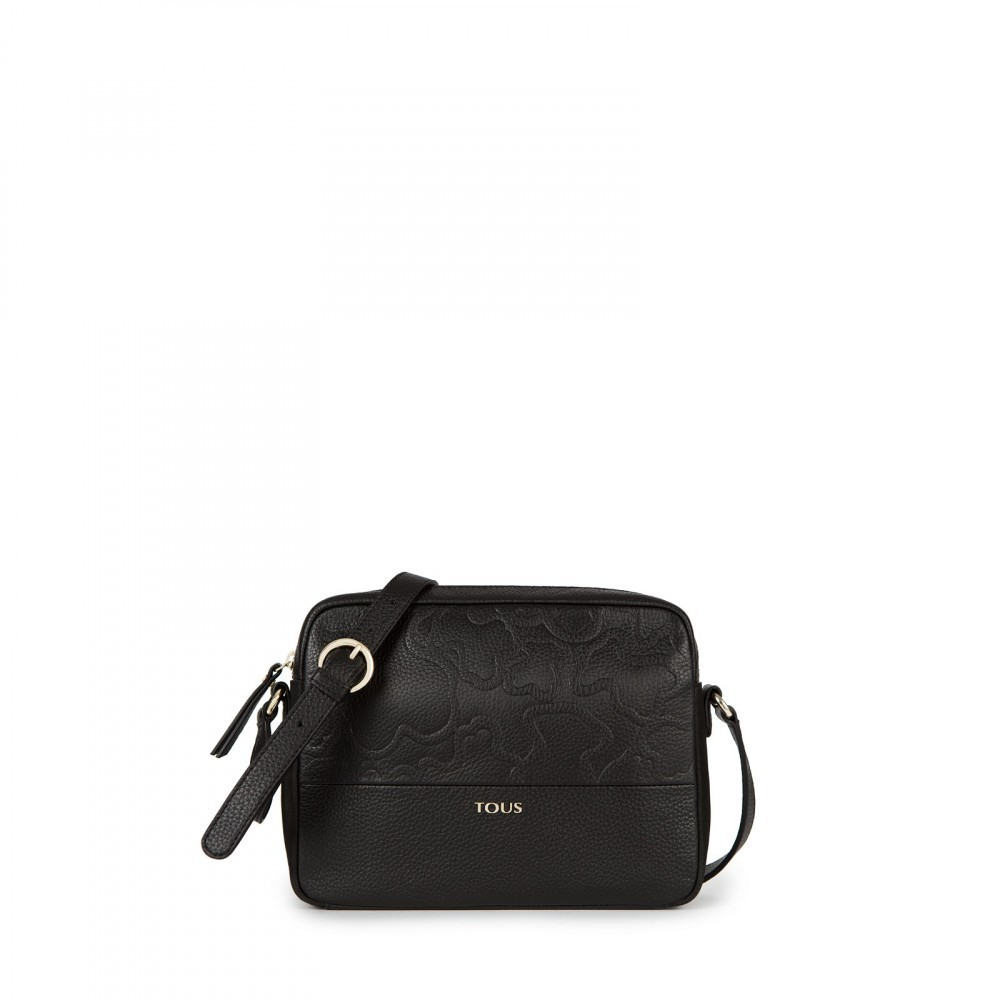 Lake Leather Shoulder Bag Black