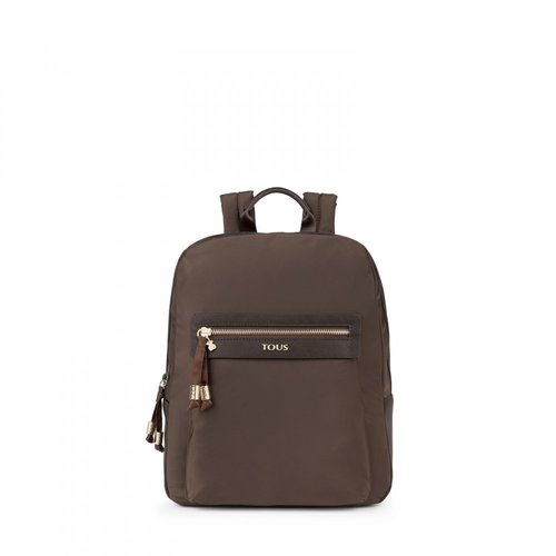 Brunock Chain Backpack brown canvas