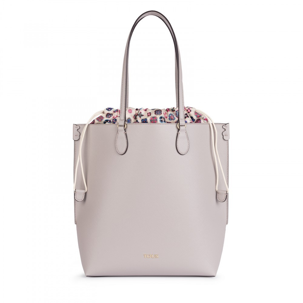 Shopping mediano Mother's Day en color beige
