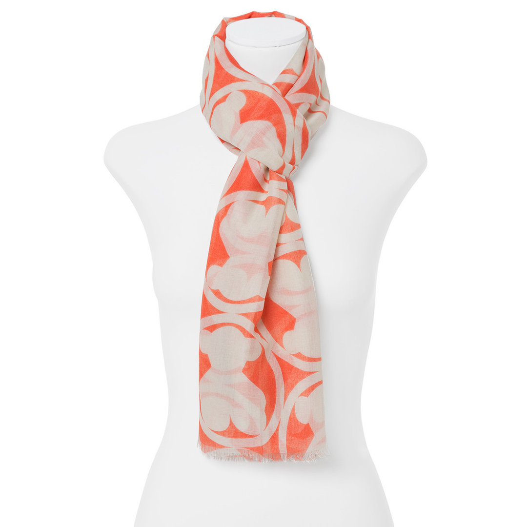 Foulard Circle Bear en color coral